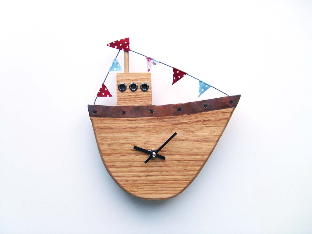Fishing Boat 2 Clock