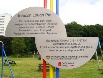 Beacon Lough Sign Detail