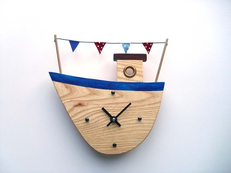 Fishing Boat 1 Clock
