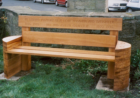 Wooden Memorial Bench, Warkworth, Northumberland