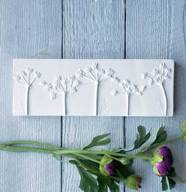 Cow parsley No.4 plaster cast wall plaque