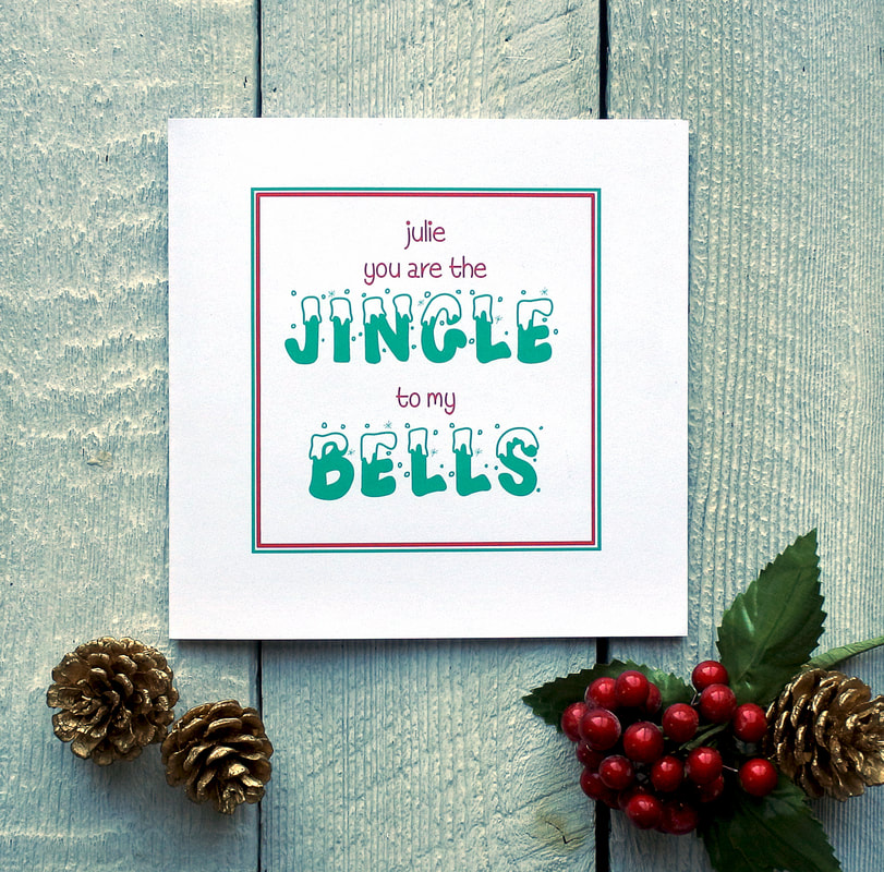 Personalised jingle bells card