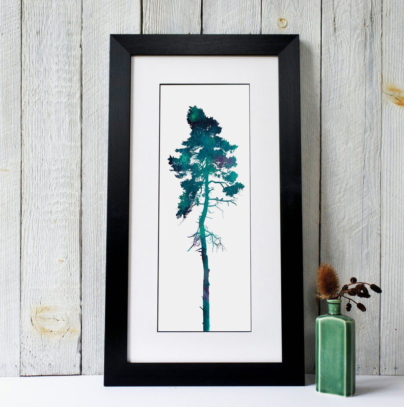Fiona Gray framed tree print with 2 little birds