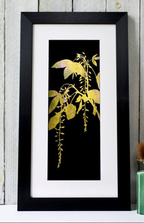 Fiona Gray - Yellow narrow laburnum print