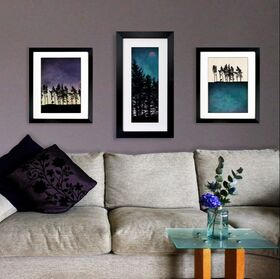3 fine art Northumberland tree prints by Fions Gray shown in a home environment