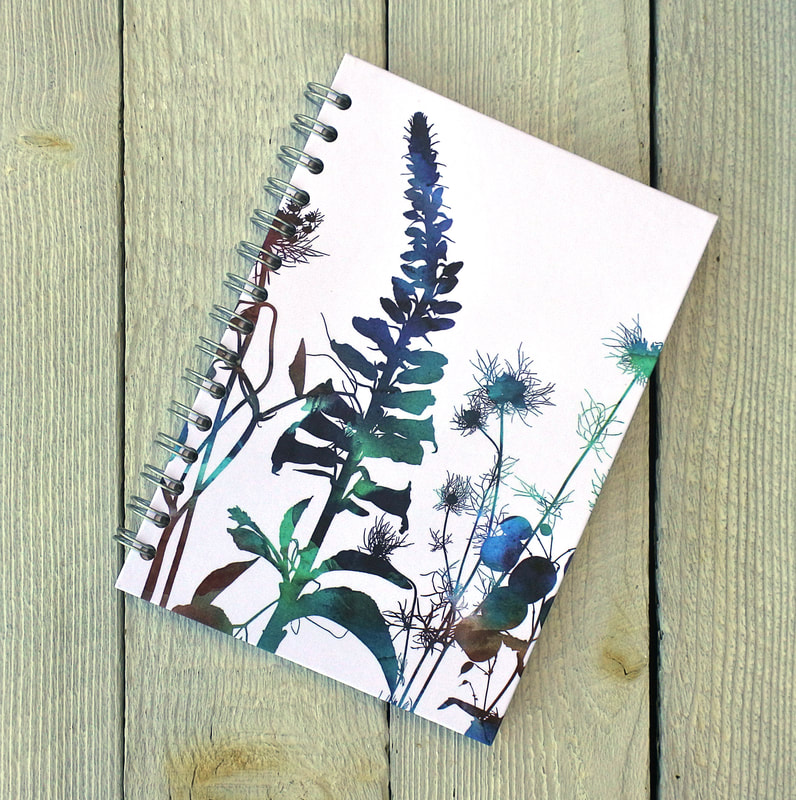 Foxglove design spiral bound notebook by Fiona Gray