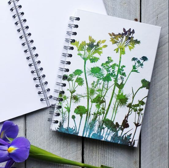 Floral notebook journal sketchbook scrapbook by Fiona Gray