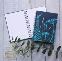 Fiona Gray notebook design 'Amandas Garden'