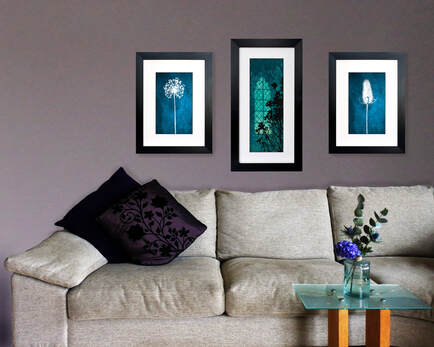 Fiona Gray Print 'Gothic Winter Light' shown in situ