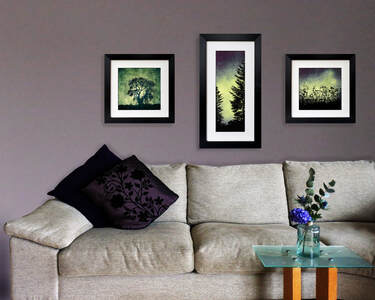 Stormy Tree at Heddon, Forest Cabin, Urban Light prints by Fiona Gray