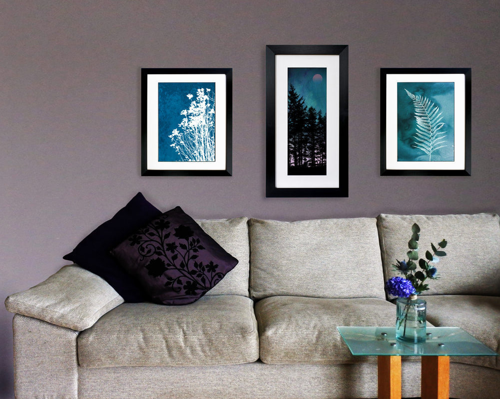 Fiona Gray prints 'Wild Flowers No.1', 'Trees at Dusk 2', Fern 1